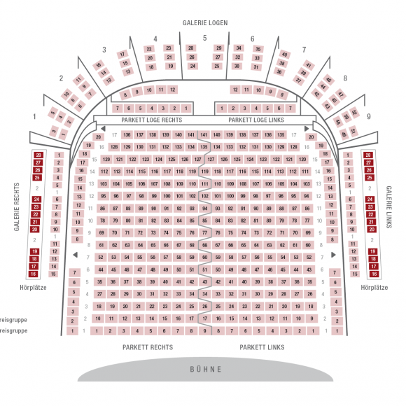 Goethe-Theater Bad Lauchstädt | Sitzplan (2 Preisgruppen)
